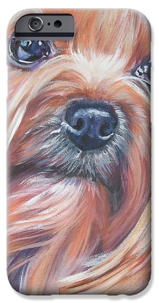 Yorkshire Terrier iPhone Cases - Yorkshire Terrier iPhone Case by Lee Ann Shepard