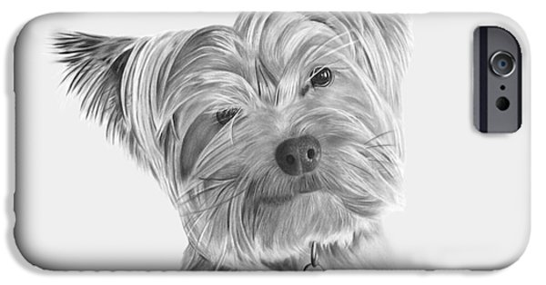 Puppies iPhone Cases - Yorkshire Terrier iPhone Case by Lee Ellett