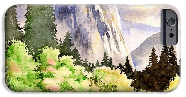 Cathedral Rock iPhone Cases - Yosemite iPhone Case by Alina Kurbiel