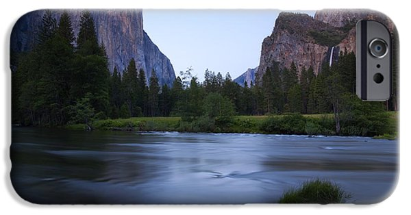 Yosemite National Park iPhone Cases - Yosemite Twilight iPhone Case by Mike  Dawson