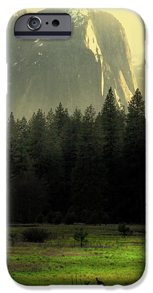 Yosemite Village Golden iPhone Case by Wingsdomain Art and Photography