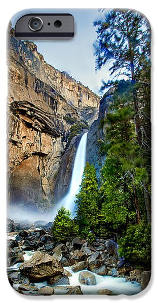 Morning iPhone Cases - Yosemite Waterfall iPhone Case by Az Jackson