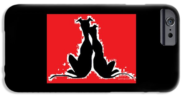 Dogs iPhone Cases - You and Me iPhone Case by Jennifer Howard