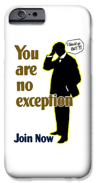 First World War iPhone Cases - You Are No Exception - Join Now iPhone Case by War Is Hell Store