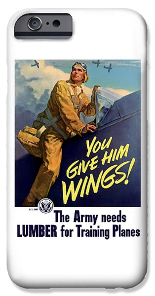 Aircraft iPhone Cases - You Give Him Wings - WW2 iPhone Case by War Is Hell Store