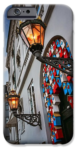 Balcony iPhone Cases - Tweet Tweet in Copenhagen iPhone Case by Carol Japp