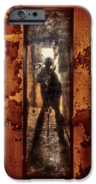 Self Photographs iPhone Cases - You Shot a Hole in My Soul iPhone Case by Evelina Kremsdorf