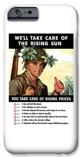 Soldiers iPhone Cases - You Take Care Of Rising Prices iPhone Case by War Is Hell Store