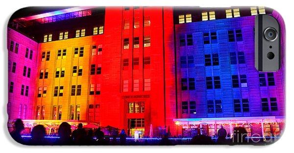 Buildings iPhone Cases - You Want Color - Vivid Sydney by Kaye Menner iPhone Case by Kaye Menner
