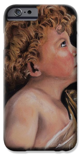 Young John the Baptist  iPhone Case by Peter Flint