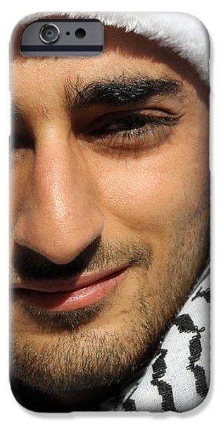 Young Palestinian Man iPhone Case by Munir Alawi