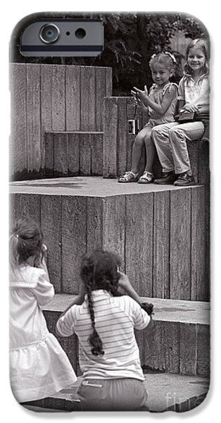 Youthful iPhone Cases - Young Photographers iPhone Case by Jim Corwin