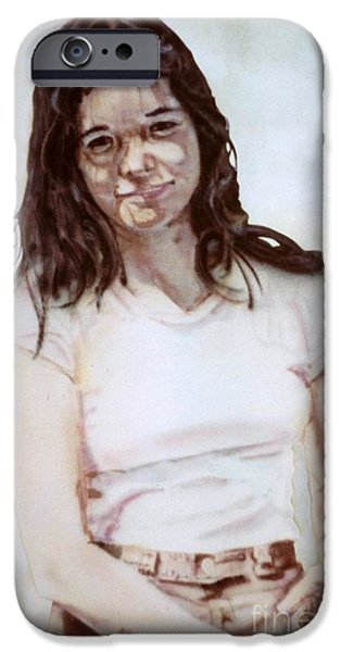 Airbrush iPhone Cases - Young Woman iPhone Case by Ron Bissett