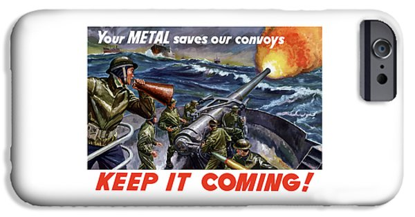 Navy iPhone Cases - Your Metal Saves Our Convoys iPhone Case by War Is Hell Store
