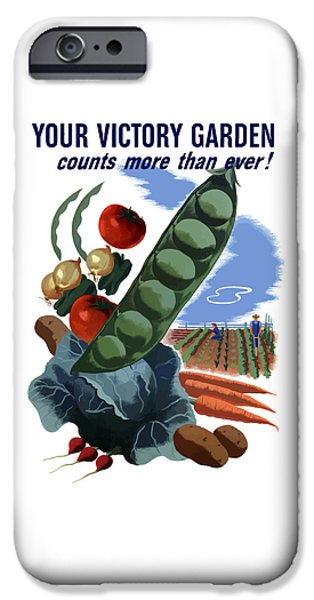 Ww11 iPhone Cases - Your Victory Garden Counts More Than Ever iPhone Case by War Is Hell Store