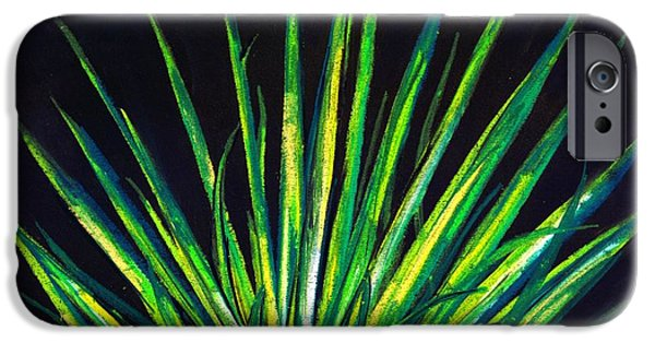 Best Sellers -  - Botanical Pastels iPhone Cases - Yucca iPhone Case by Melvin Moon