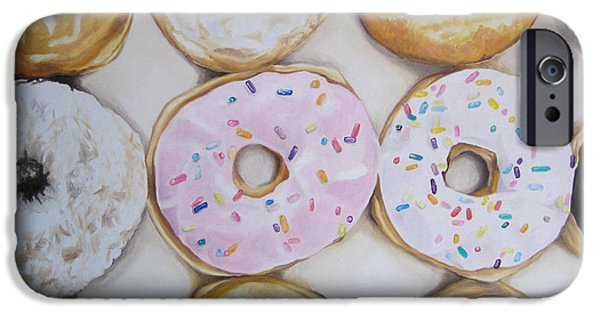 Doughnuts iPhone Cases - Yummy Donuts iPhone Case by Jindra Noewi