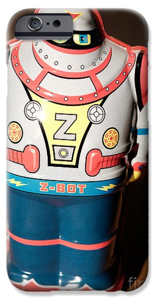 Robot iPhone Cases - Z-Bot Robot Toy iPhone Case by Edward Fielding