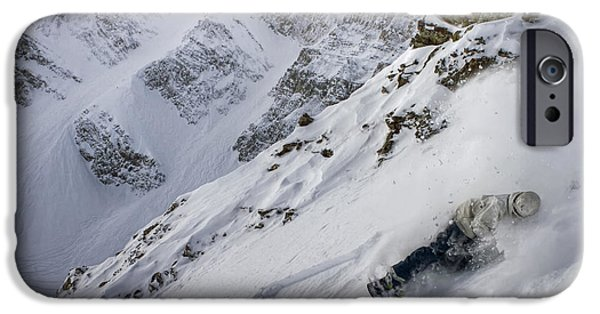 Mountain Pyrography iPhone Cases - Z Chute iPhone Case by Lavold Photography