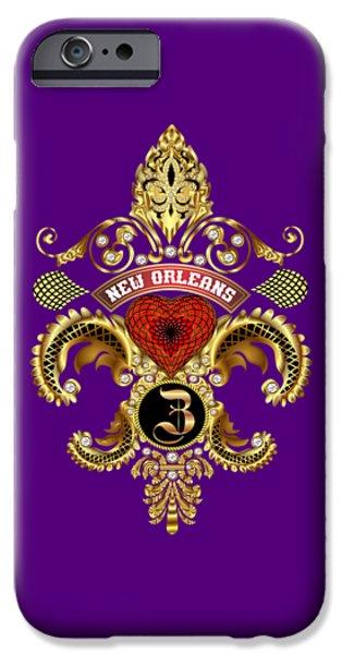 Jambalaya iPhone Cases - Z-Fleur-de-lis New Orleans Transparent Back Pick Color iPhone Case by Bill Campitelle