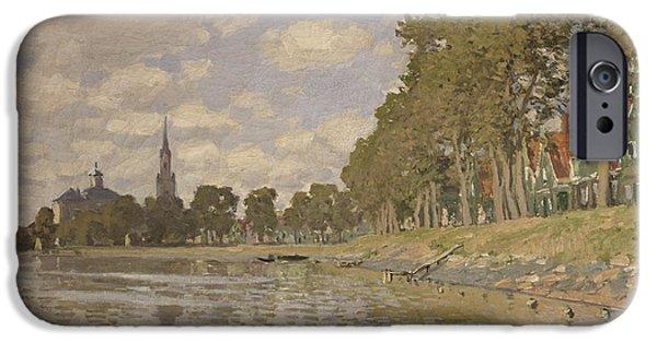 1871 iPhone Cases - Zaandam iPhone Case by Claude Monet