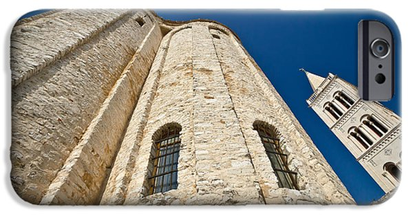 Cathedral Rock iPhone Cases - Zadar saint Donat church wide view iPhone Case by Dalibor Brlek