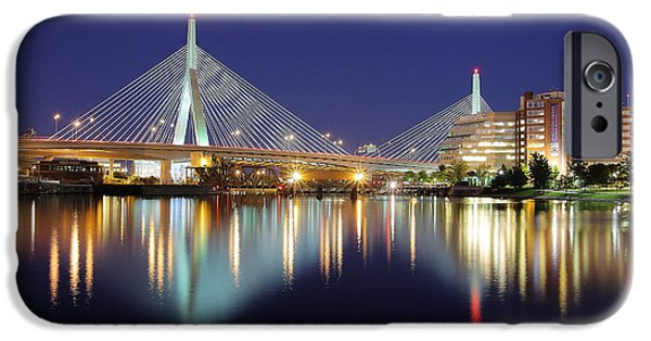 Boston Charles River iPhone Cases - Zakim Aglow iPhone Case by Rick Berk