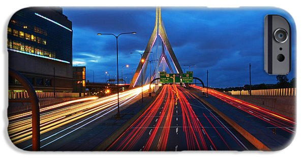 Boston Ma iPhone Cases - Zakim Bridge and TD Garden Boston MA iPhone Case by Toby McGuire
