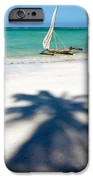 Sailboat iPhone Cases - Zanzibar Beach iPhone Case by Adam Romanowicz