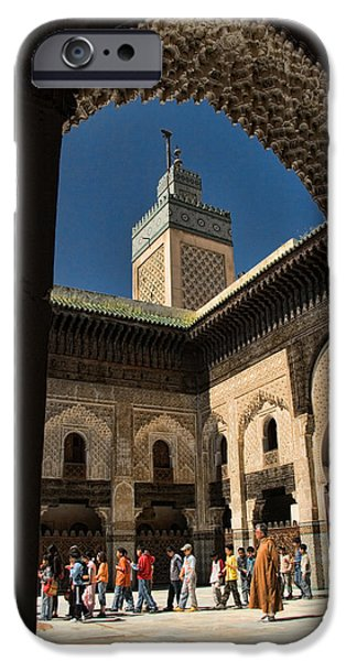Fez iPhone Cases - Zaouia el Tijaniya mosque in Fes Morroco iPhone Case by David Smith