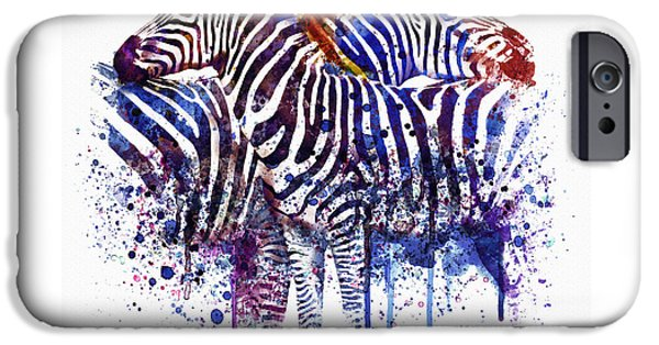 Love The Animal iPhone Cases - Zebras in Love iPhone Case by Marian Voicu