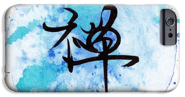 Buddhist iPhone Cases - Zen - Japanese Kanji Calligraphy iPhone Case by Oiyee  At Oystudio