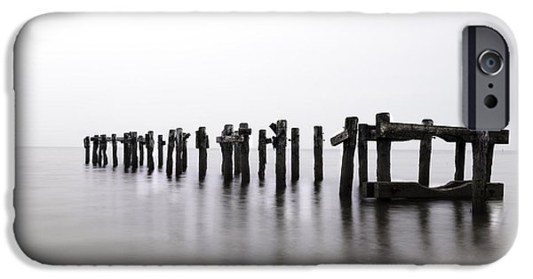 Abstract Seascape iPhone Cases - Zen Piers by Tom Schoeller - Open Edition Print iPhone Case by Thomas Schoeller