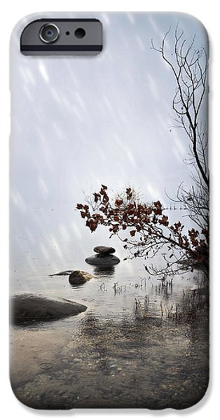 Silence iPhone Cases - Zen stones iPhone Case by Joana Kruse