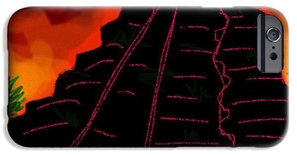 Sand Castles iPhone Cases - Ziggurat Xhocolatec iPhone Case by Paul Sutcliffe