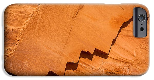 United iPhone Cases - Zigzag Sandstone iPhone Case by Inge Johnsson