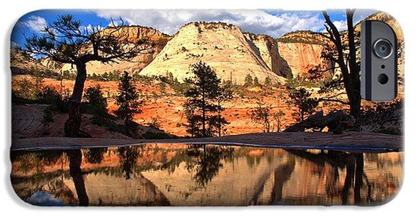 Zion Park iPhone Cases - Zion Fantasy iPhone Case by Adam Jewell