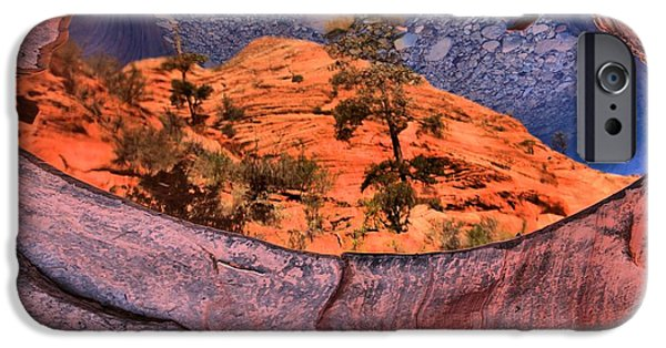 Zion Park iPhone Cases - Zion Many Pools Reflections iPhone Case by Adam Jewell