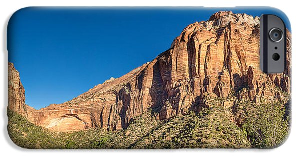 Zion Park iPhone Cases - Zion National Park Panorama iPhone Case by James BO  Insogna
