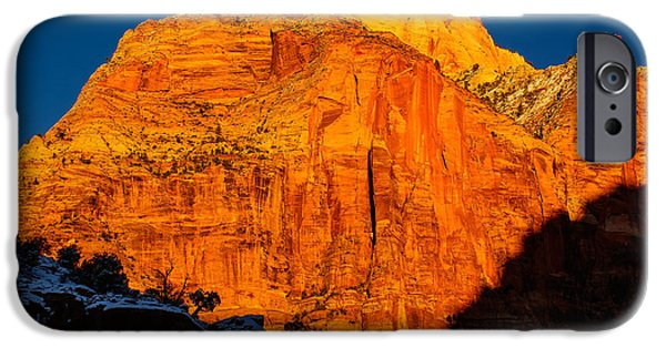 Epic iPhone Cases - Zion National Park - Winter Sunset iPhone Case by Jason Shepherd