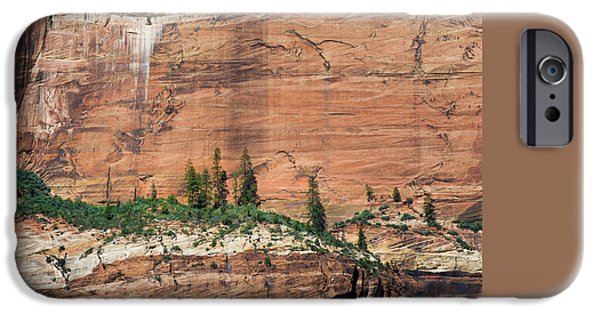 Ledge iPhone Cases - Zion Wall iPhone Case by Joseph Smith