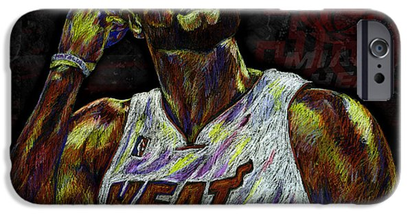 Miami Heat iPhone Cases - Zo iPhone Case by Maria Arango
