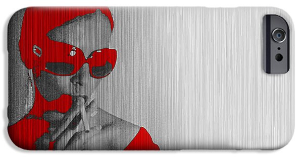 Smoking iPhone Cases - Zoe in Red iPhone Case by Naxart Studio