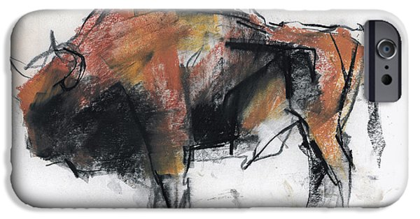 Bison iPhone Cases - Zubre  Bialowieza iPhone Case by Mark Adlington