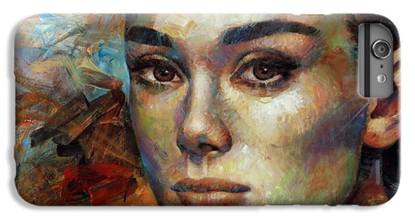 Audrey Hepburn IPhone 6 Plus Case by Arthur Braginsky