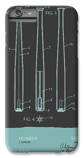 Baseball Bat Patent From 1924 - Gray Blue IPhone 6 Plus Case by Aged Pixel