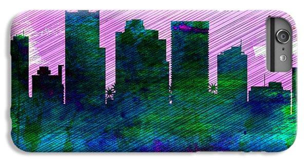 Phoenix City Skyline IPhone 6 Plus Case by Naxart Studio