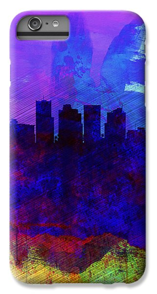 Phoenix Watercolor Skyline 1 IPhone 6 Plus Case by Naxart Studio