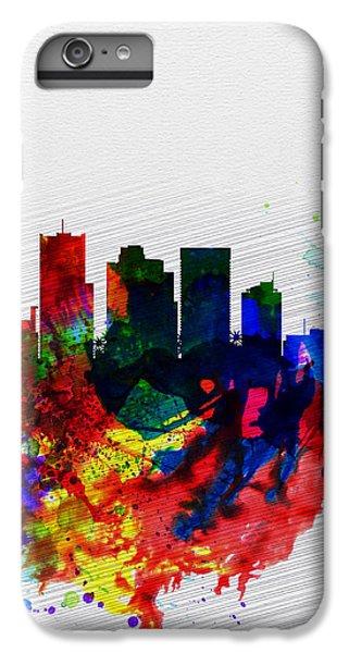 Phoenix Watercolor Skyline 2 IPhone 6 Plus Case by Naxart Studio