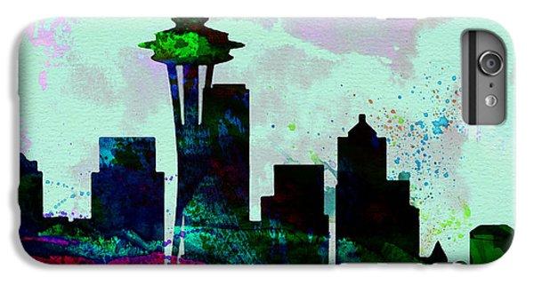 Seattle City Skyline IPhone 6 Plus Case by Naxart Studio
